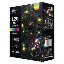 120 LED reťaz, 12m, multicolor, programy