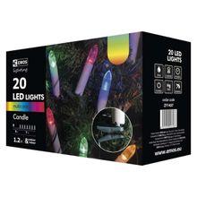 20 LED reťaz – sviečky, 7m, multicolor, časovač