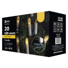 20 LED reťaz – sviečky, 7m, teplá biela