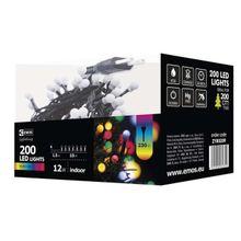 200 LED reťaz – guličky, 10m, IP20, multicolor