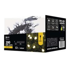200 LED reťaz – guličky, 10m, IP20, teplá biela