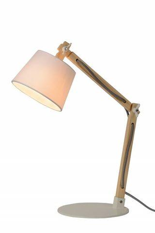OLLY Stolová lampa L43 D15,5 H68cm Biela